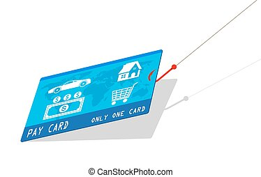 credit card with hook,about deception