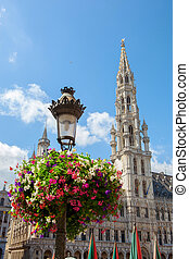 Town hall building in the Grand Place