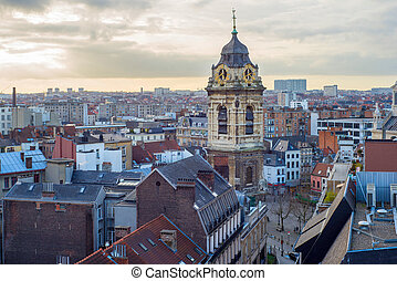 Skyline of the city Brussels - Skyline of the city of...