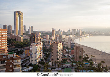 top view of the Benidorm - Top view of the of Benidorm,...