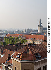 view from above the top of tower, Brussels , Belgium
