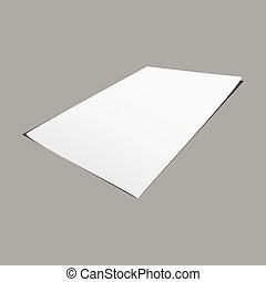 Empty white paper mock up background, stock vector
