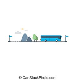 Bus transfer and transportation - Travel by bus, public...