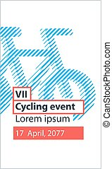 Sports activity, bicycle event - Cycling event banner and...