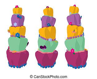Cake Art Illustration Silhouette