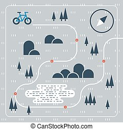 Outdoor cycling activities, bike race itinerary - Cross...