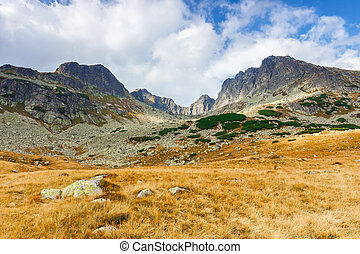 Five lakes valley in High Tatra Mountains, Poland