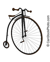 Penny Farthing Bicycle Art Illustration - Penny farthing...