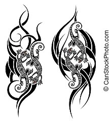gk25.eps - Lizard tattoo