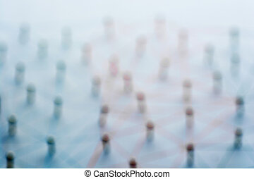 Abstract Linking entities. Network, networking, social...