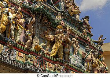 Sri, Veeramakaliamman, hindú, templo, singapur, 2