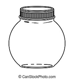 silhouette circular glass container with lid