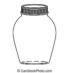 silhouette rounded glass container with lid