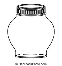 silhouette spherical glass container with lid