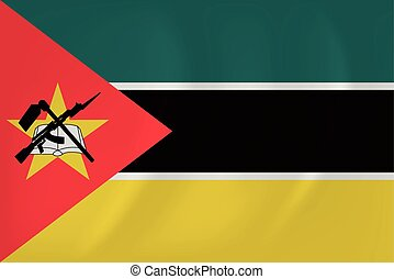 Mozambique waving flag - Vector image of the Mozambique...