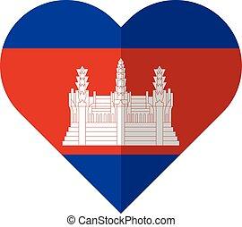 Cambodia heart flag - Vector image of the Cambodia heart...