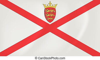 Jersey waving flag - Vector image of the Jersey waving flag