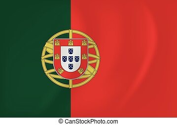 Portugal waving flag - Vector image of the Portugal waving...