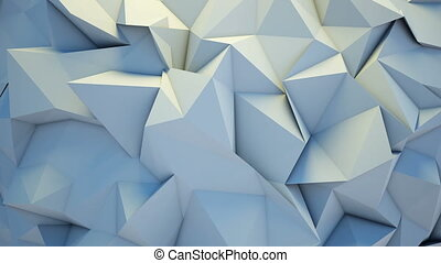 Abstract polygon crystallized background - 3D render...