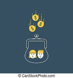 Children money accumulation, allowance concept - Inherit...