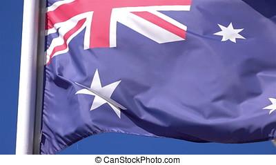 Video of Australian Flag in 4K - High quality video of...