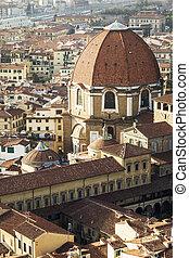 The Basilica di San Lorenzo (Basilica of St Lawrence) in...