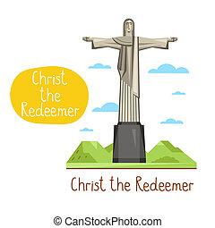 Landmarks concept. Travel the world. Raster. - Christ the...