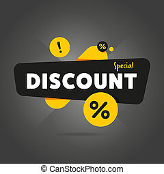 Special discount advertisement promo banner flat abstract...