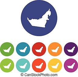 United Arab Emirates map set icons