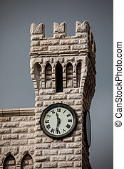 Albert I's clock tower in the Prince's Palace of Monaco -...