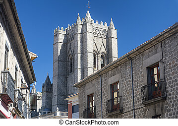 Avila (Castilla y Leon, Spain): buildings - Avila (Castilla...