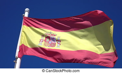 Video of Spanish Flag in 4K - High quality video of Spanish...