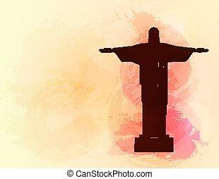 Rio de Janeiro Jesus Christ the redeemer statue.
