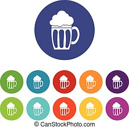 Beer set icons