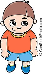 preschool boy character - Cartoon Illustration of Elementary...
