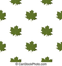 Maple Leaf vector icon in cartoon style for web - Maple Leaf...