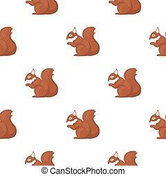Squirrel vector icon in cartoon style for web - Squirrel...