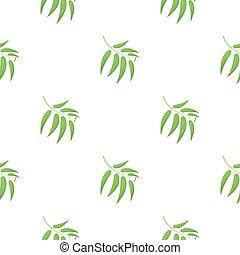 Eucalyptus vector icon in cartoon style for web - Eucalyptus...
