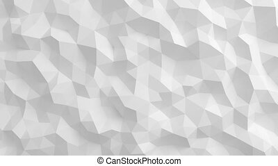 Beautiful White Polygonal Surface Waving in Seamless 3d...