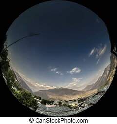 himalayas timelapse on fisheye lens - himalayas timelapse on...