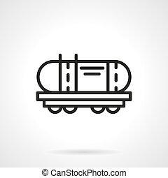 Railroad cistern simple line vector icon - Railroad...
