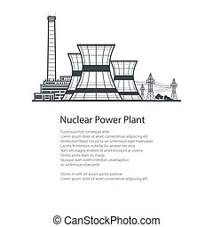 Nuclear Reactor and Power Lines , Brochure Design - Nuclear...