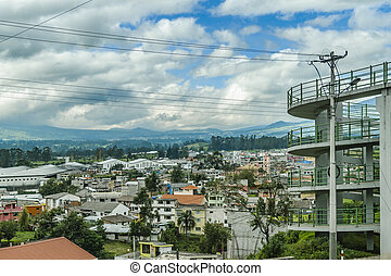 Urban Scene at Quito Outskirts - QUITO, ECUADOR, FEBRUARY -...