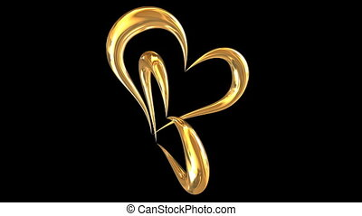 rotating golden hearts