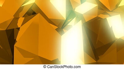 3d abstract geometric background with sharp spikes with...