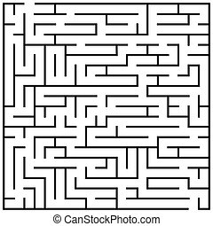 Maze puzzle, labyrinth brain teaser kids game vector...