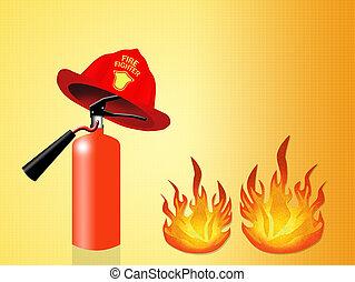 extinguisher - illustration of extinguisher