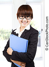 young smiling business woman
