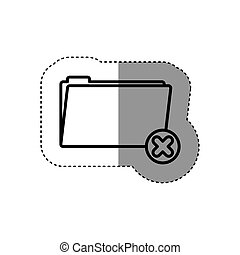 sticker silhouette folder symbol to erased files
