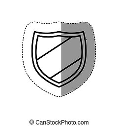 sticker silhouette emblem with contourn lines vector...